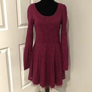 Free People Long Sleeve Lace Dress Size M